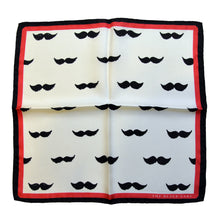 The Big Moustache Silk Pocket Square - THE BLACK EARS