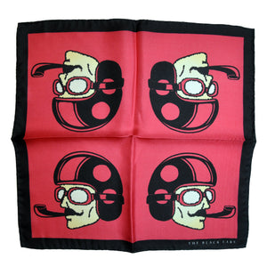 The Dapper Man - Red Silk Pocket Square - THE BLACK EARS