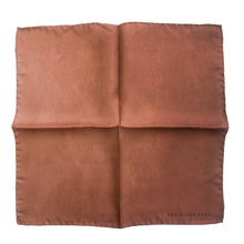 The Brown Stone Silk Pocket Square - THE BLACK EARS