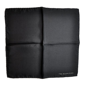 The White Square Silk Pocket Square - THE BLACK EARS