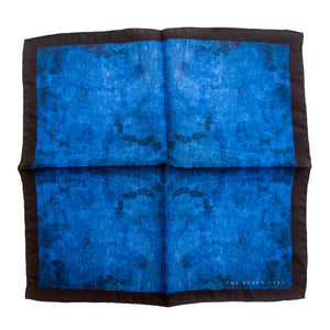 The Dirty Blue Silk Pocket Square - THE BLACK EARS