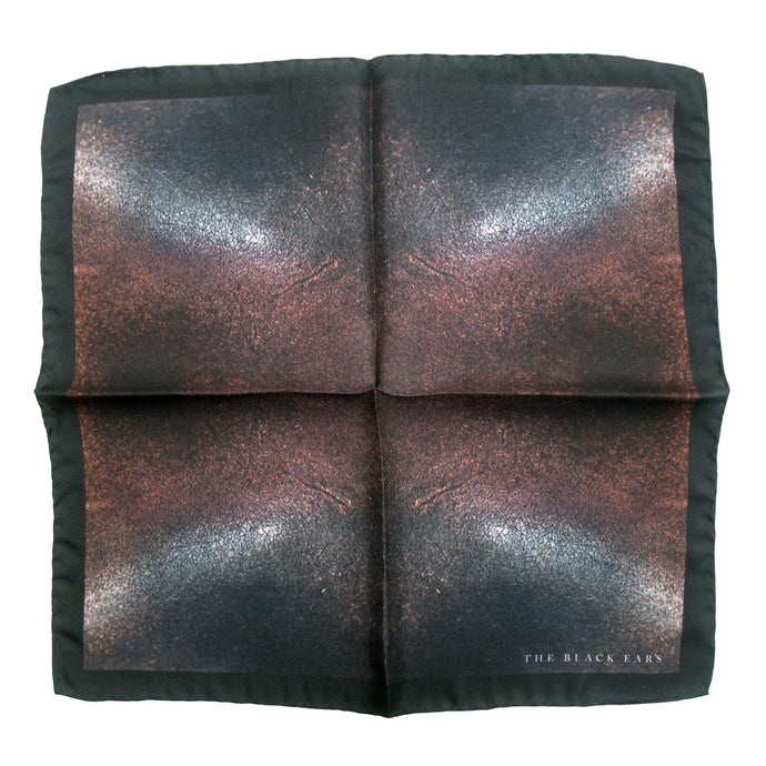 The Rusted Rusty Silk Pocket Square - THE BLACK EARS