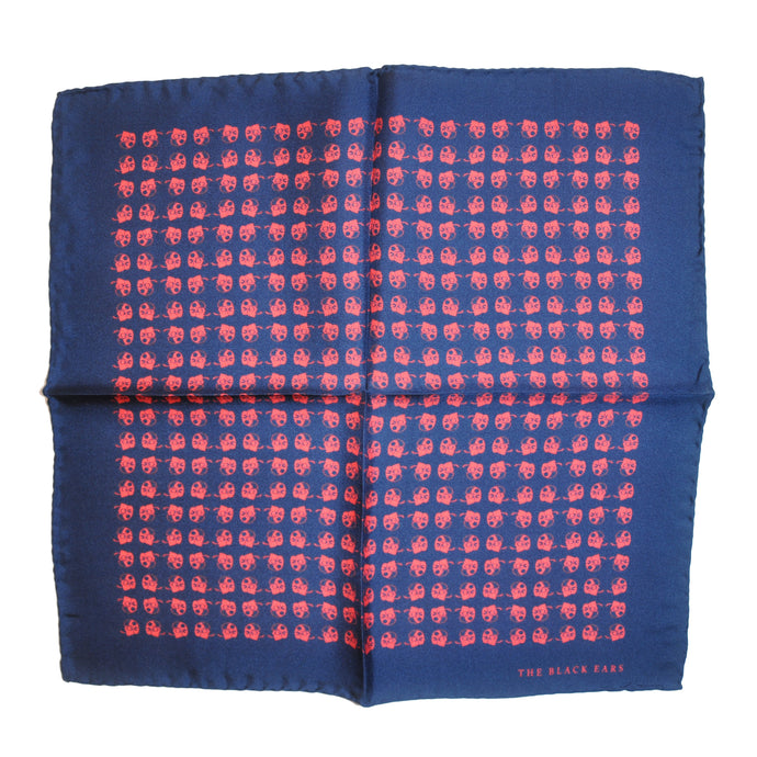 The Navy Dapper Silk Pocket Square - THE BLACK EARS