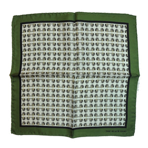 The Green Dapper Silk Pocket Square - THE BLACK EARS