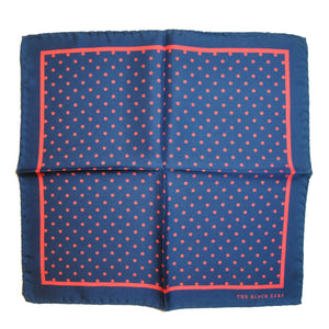 The Pin-Dot Navy Silk Pocket Square - THE BLACK EARS