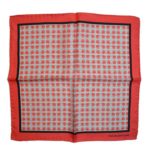 The Red Dapper Silk Pocket Square - THE BLACK EARS