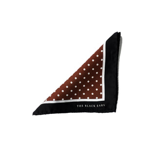 The Pin-Dot Brown Silk Pocket Square - THE BLACK EARS
