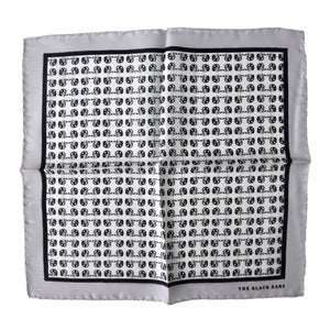 The Grey Dapper Silk Pocket Square - THE BLACK EARS