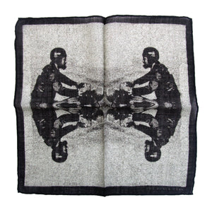 The Gentleman Rider Wool Pocket Square - THE BLACK EARS