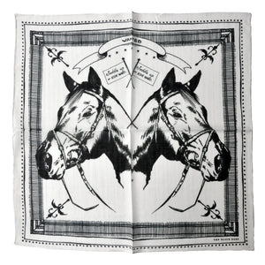 The White Horse Cotton Bandana - THE BLACK EARS