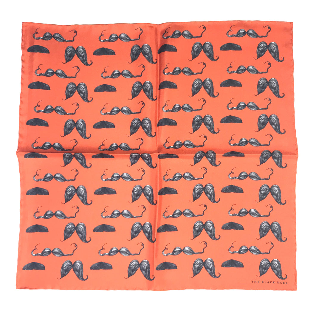 The Moustache Styles Silk Scarf - THE BLACK EARS