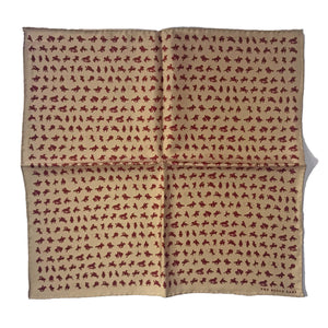 The Cowboys and Horses Silk Pocket Square / Bandana