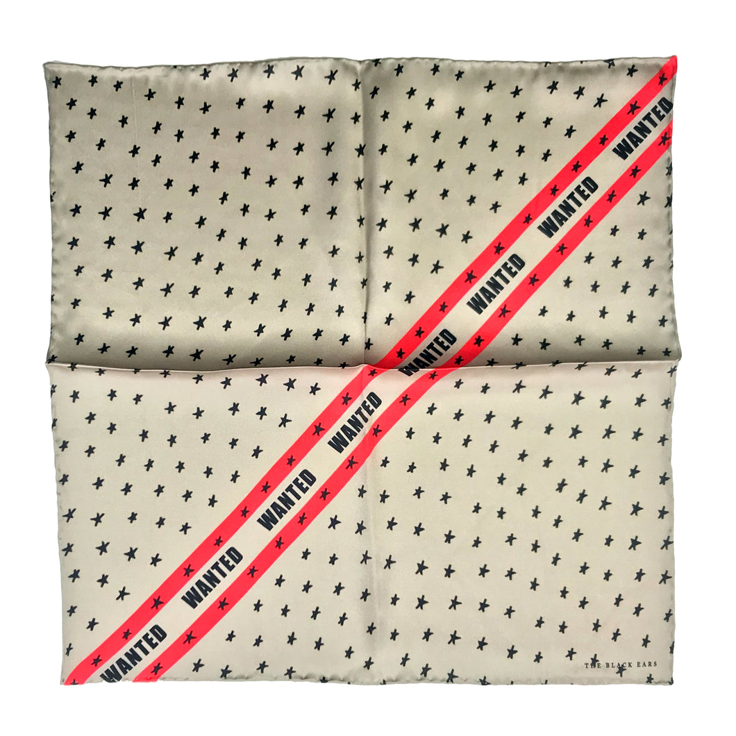 The Wanted Silk Pocket Square / Scarf - THE BLACK EARS