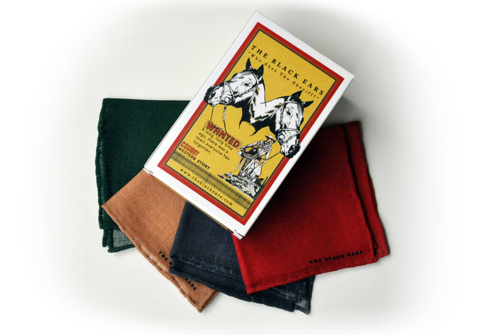 The Western Colours Wool Pocket Squares - 4 in 1 - THE BLACK EARS