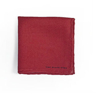 The Western Red Wool Pocket Square - THE BLACK EARS
