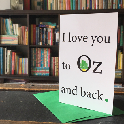 Card- I love you to Oz and back