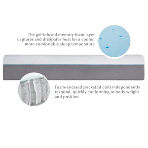 "Wellsville 11"" Gel Infused Memory Foam Hybrid"