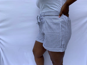 Black Striped Shorts-P