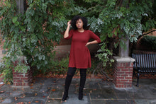 Burgundy Tunic Top