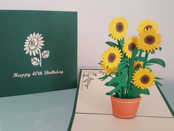 40th Birthday Sunflowers