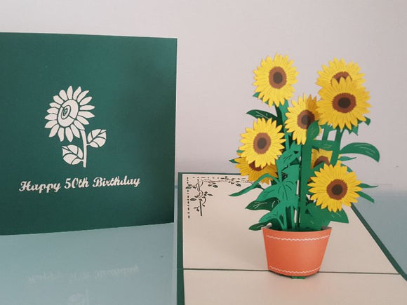 50th Birthday Sunflowers