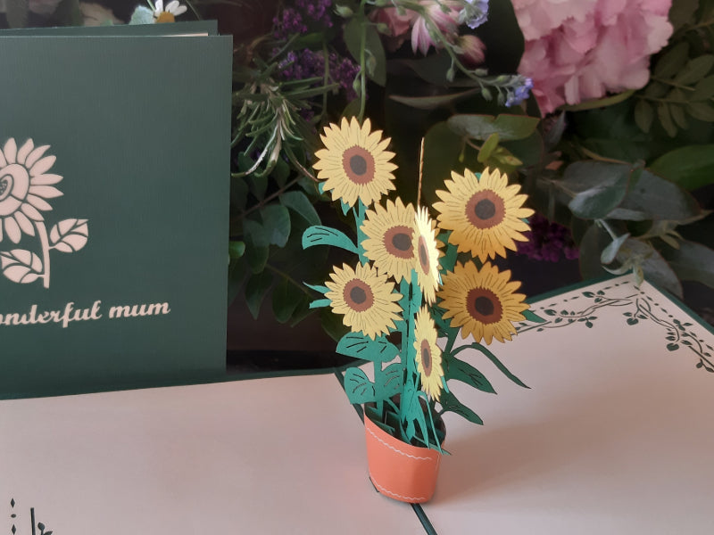To a wonderful Mum sunflower