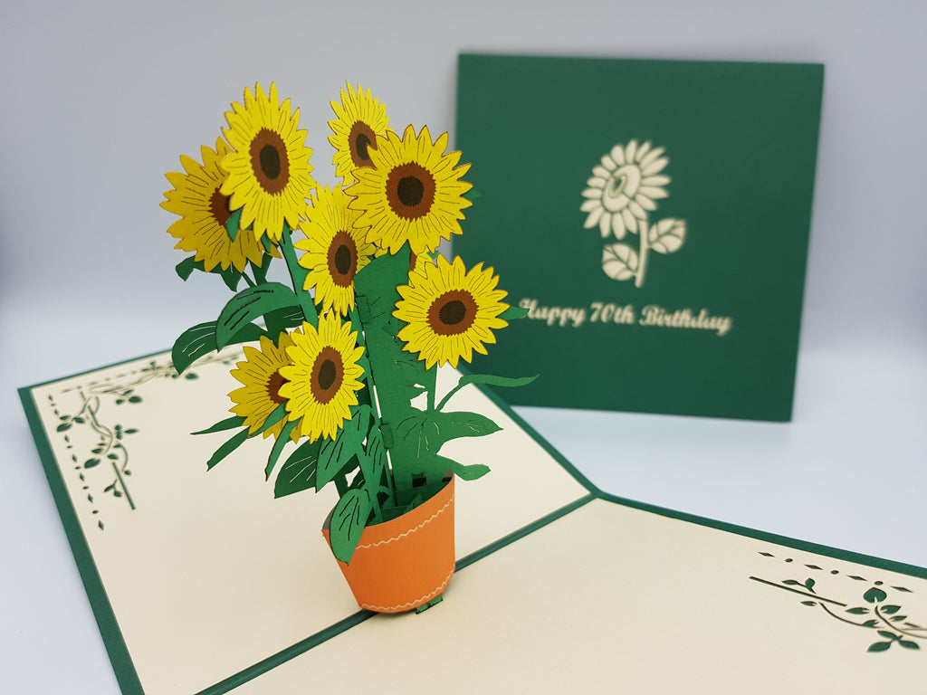 70th Birthday Sunflowers