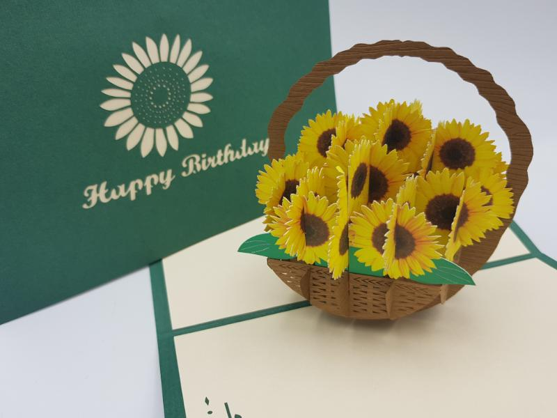 Birthday Sunflower Basket