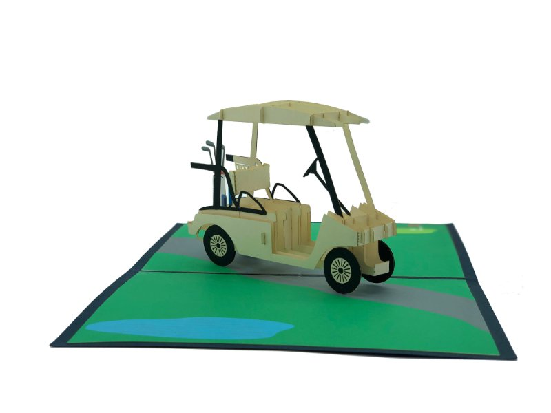 Golf cart on Green