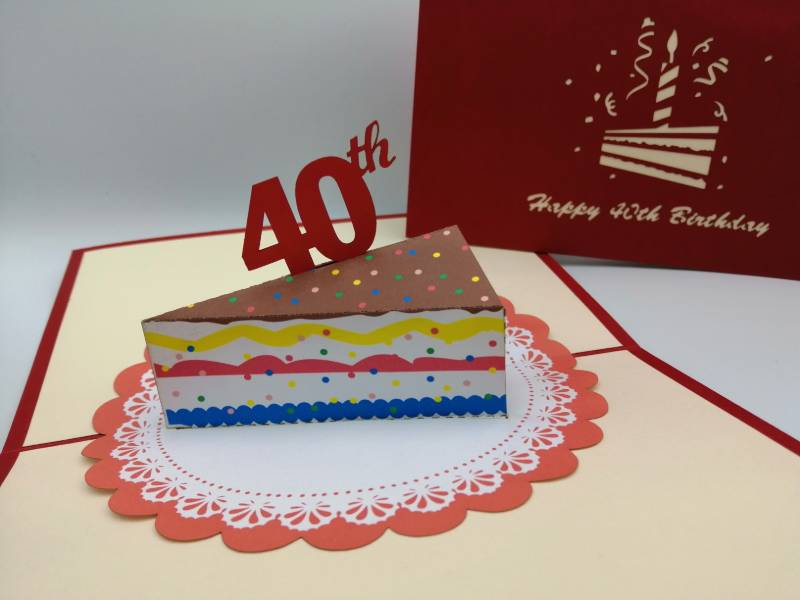 40th Birthday -  Slice of cake