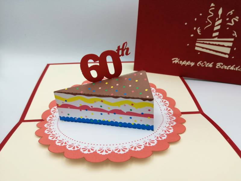 60th Birthday -  Slice of cake