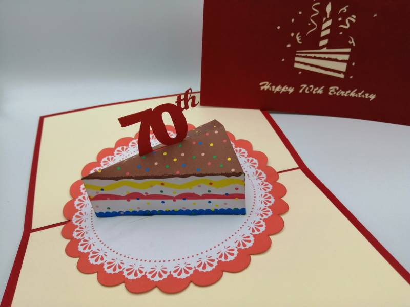 70th Birthday -  Slice of cake