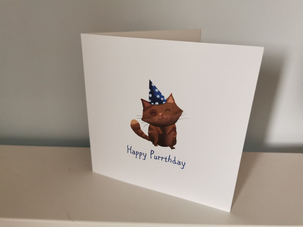 Happy Purrthday (Illustrated Card)