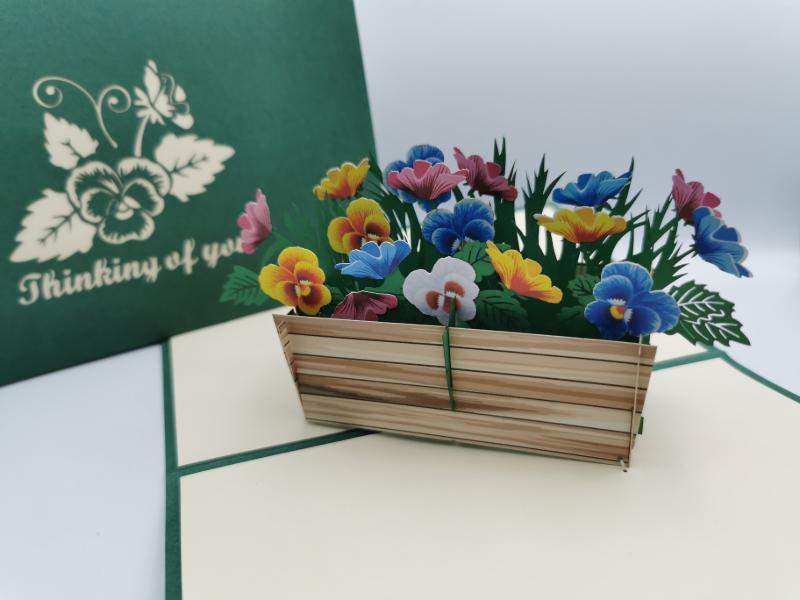 Thinking of you flower crate