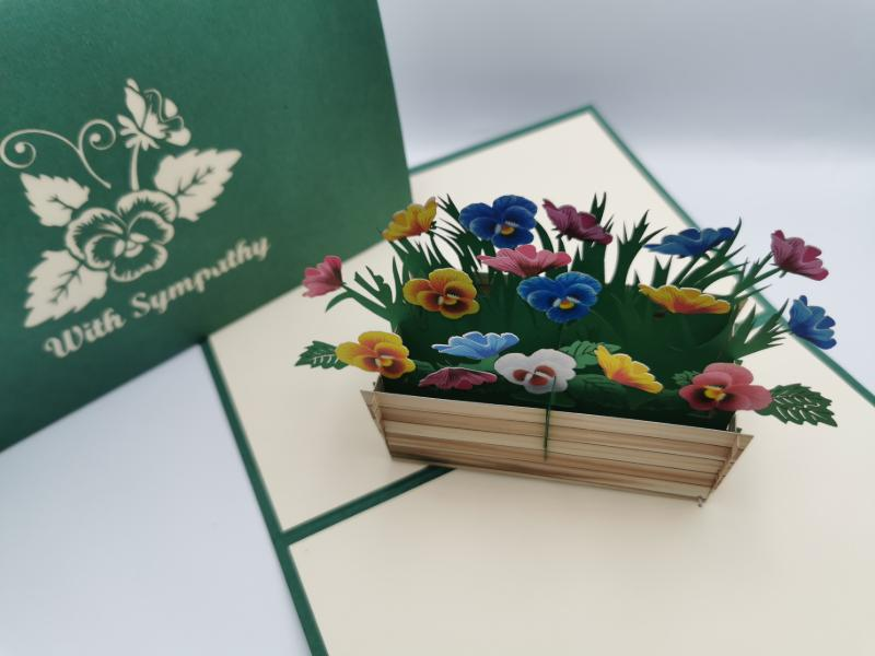 With Sympathy flower crate