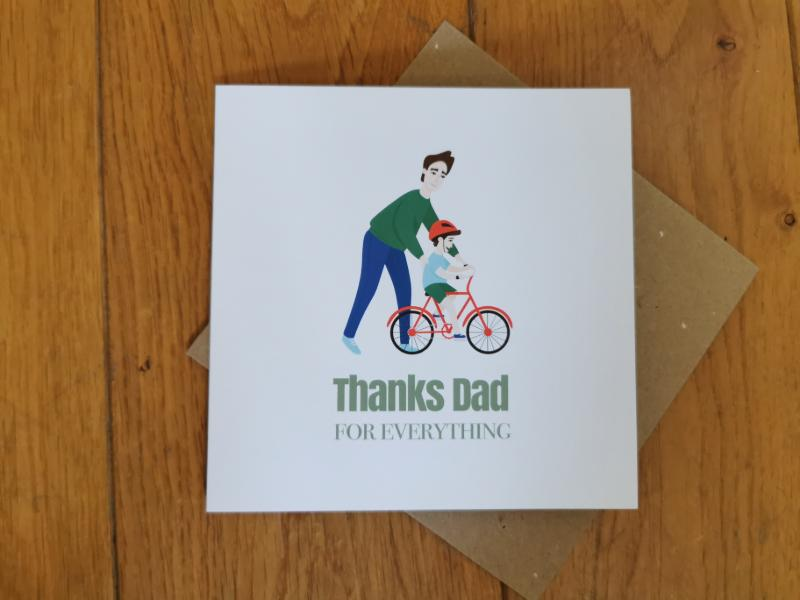 Thanks dad Illustrated card