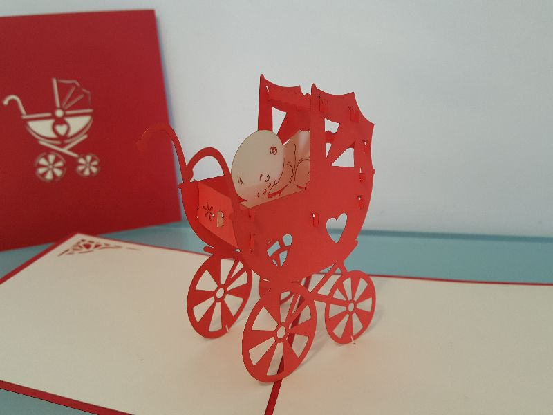 Baby Carriage - Red