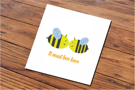 It must bee love (Illustrated 2D card)