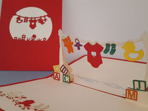 Baby Clothesline - Red