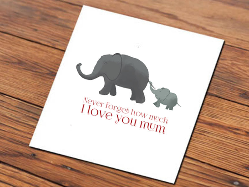Elephant Mum (Illustrated Card)