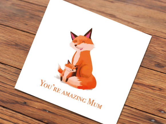 Fox Mum (Illustrated card)