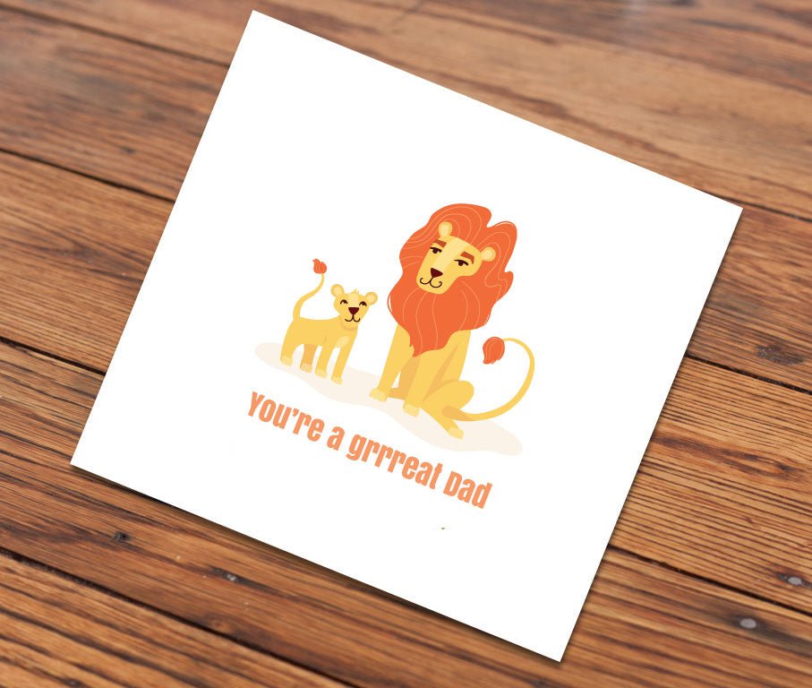 You're a grrreat dad (Illustrated Card)