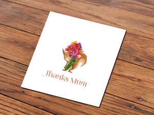 Thanks Mum Squirrel (Illustrated Card)