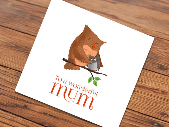 Mother Owl (Illustrated Card)