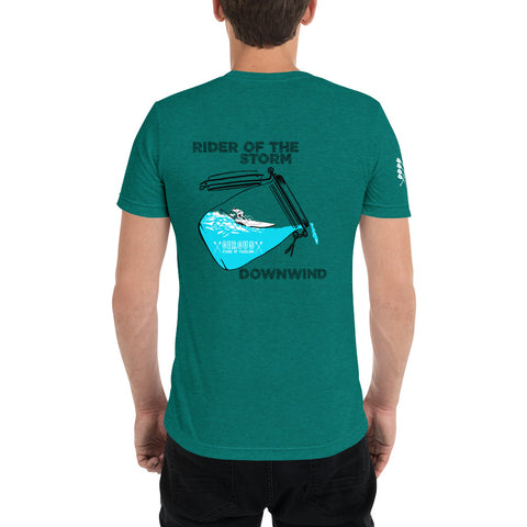 Downwind - Rider of the storm, hochwertiges Tri-Blend T-Shirt