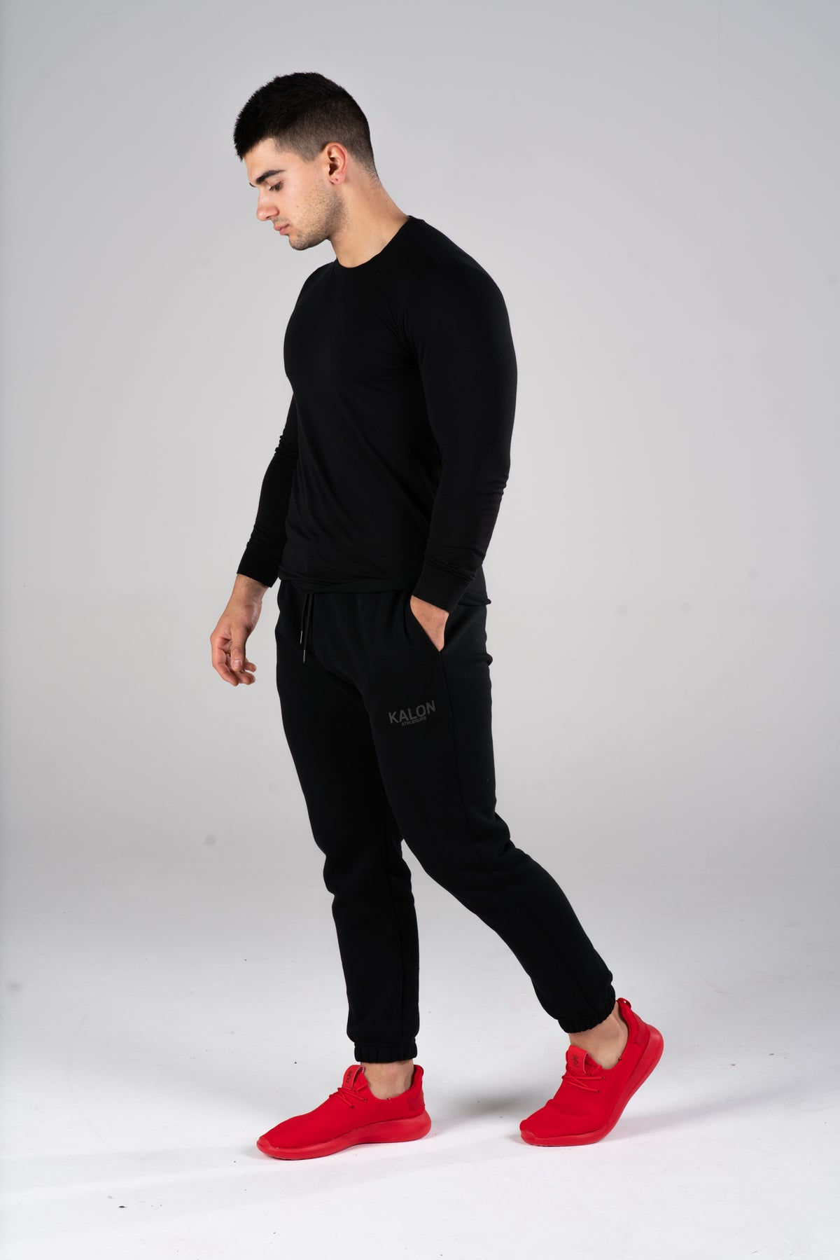 MENS BLACK FLEECE SWEATPANTS