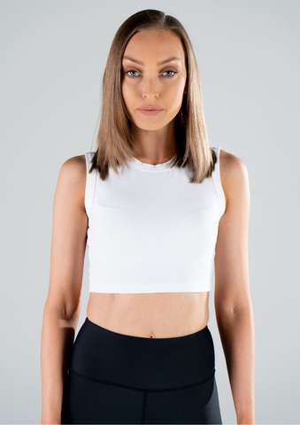 HIGH RISE CROP / WHITE