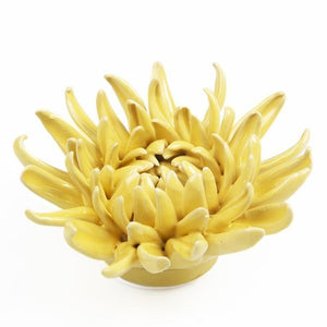 Yellow Mum Ceramic Flower