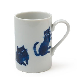 Midnight Blue Cats Mug