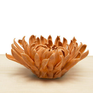 Orange Mum Ceramic Flower